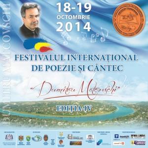 """Festivalul-concurs Internațional de poezie şi cântec """"Dumitru Matcovschi"""", Ediţia a IV-a, 18 – 19 octombrie 2014, Vadul-Raşcov-Agenda"""