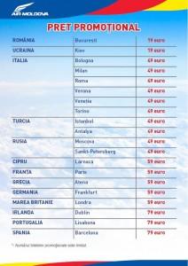 Bilete de avion de la 19 euro cu Air Moldova