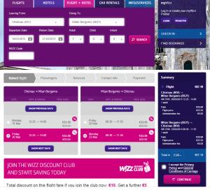 Doar astăzi, 9 Ianuarie, Wizz Air are reducere de 20%