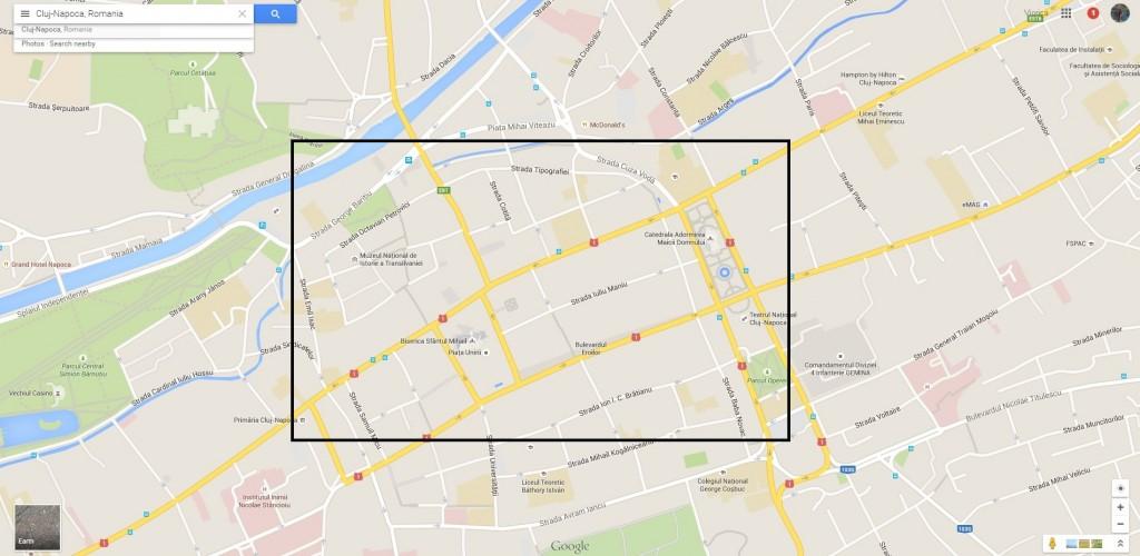 cluj map