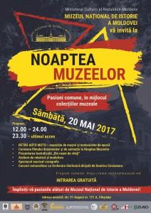 Noaptea europeană a muzeelor-Programul Muzeului Național de Istorie a Moldovei