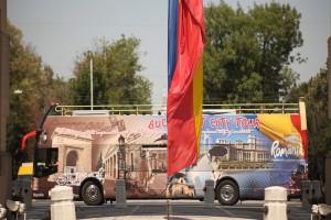 Prin București cu autobusele turistice supraetajate