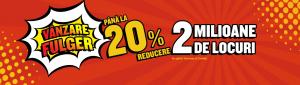 (Română) Până la 20% reducere. 50,000 de locuri. Toate zborurile către România