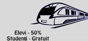 Călătorii gratuite cu trenul pentru studenți înmatriculaţi la o universitate din România