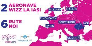 În 2018 Wizz Air își extinde baza la Iași și deschidenoirute directe